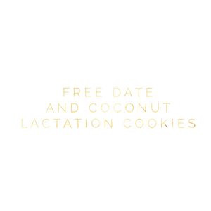 Sample Date and Coconut Lactation Cookies