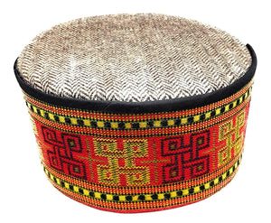 Himachali Multicolored Woolen Cap - Traditional Pahadi Topi