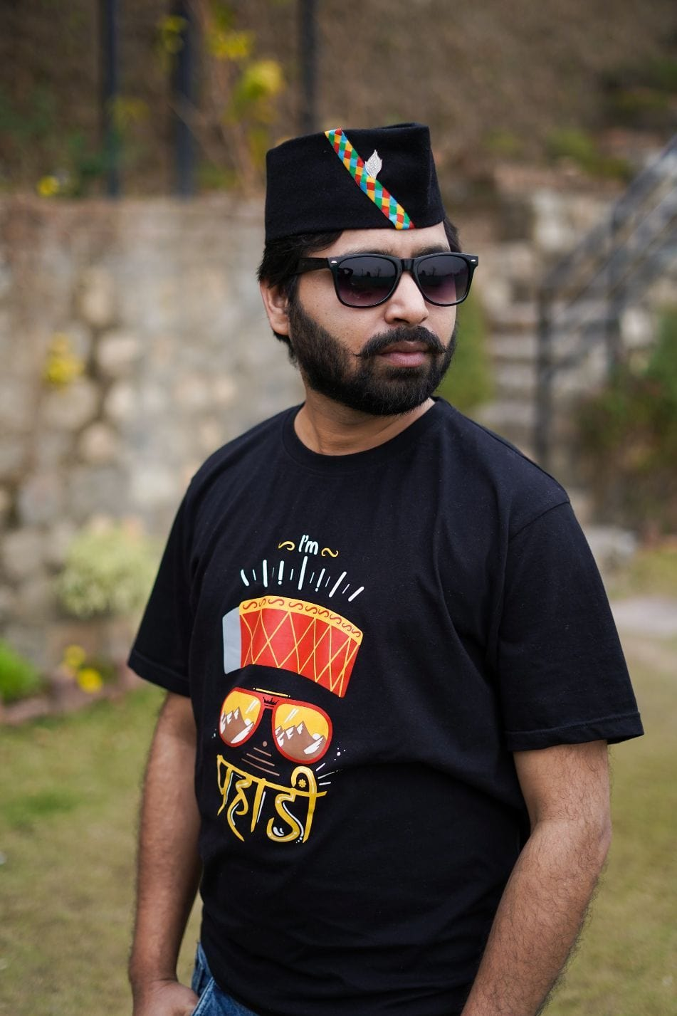 Pahadi Tshirt with Topi