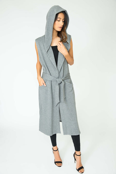 BRICK ESTELLE LONG PLUSH VEST