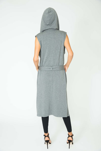 SLATE ESTELLE LONG PLUSH VEST