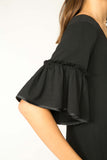 ONYX AUDREY RUFFLE SLEEVE DRESS