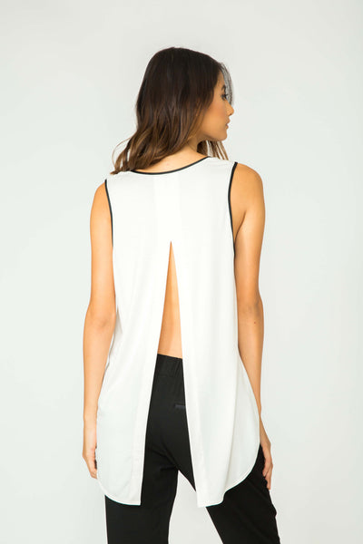 CREAM JEN OPEN-BACK TANK