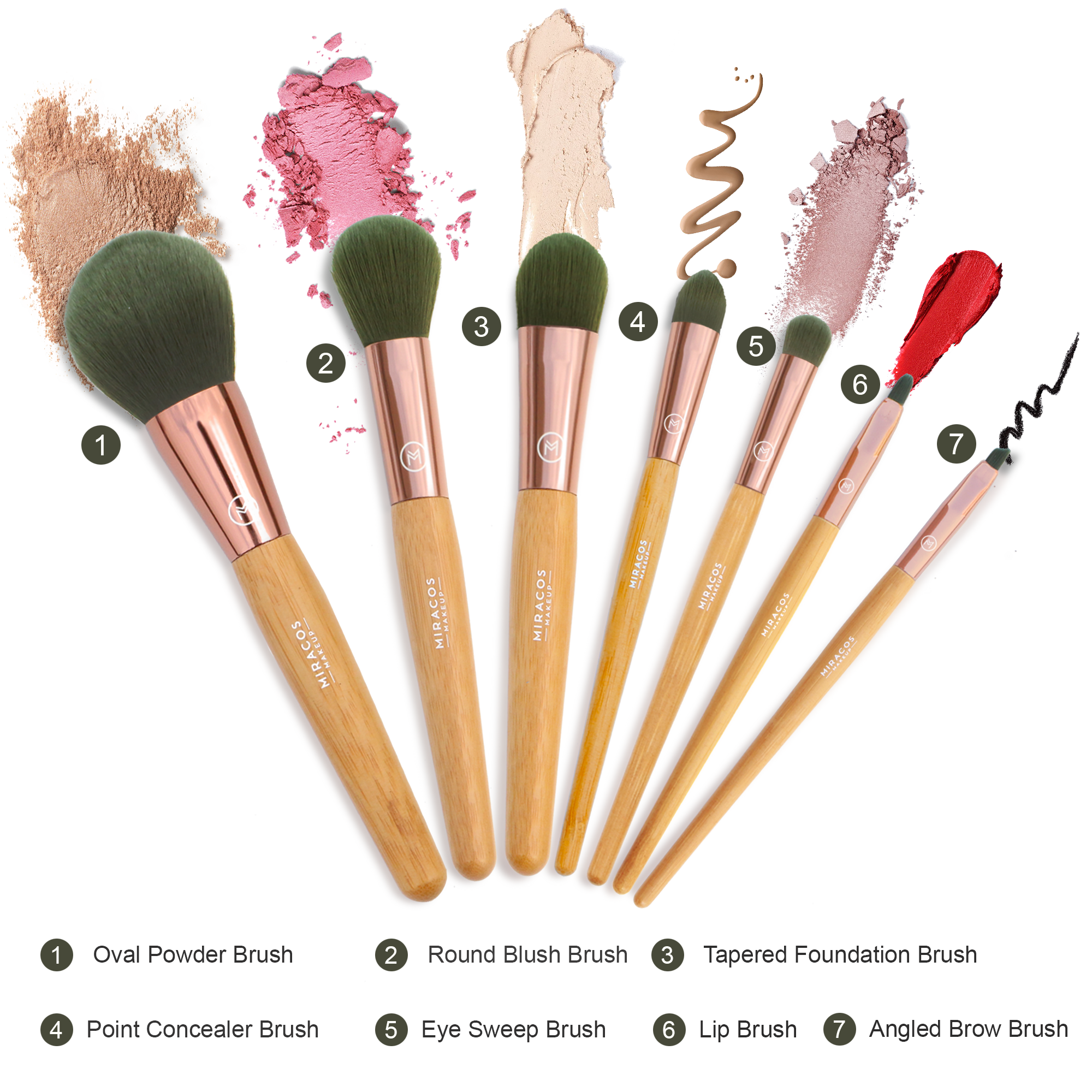 Antibacterial Makeup Brushes Set-MM01 【Promotion】