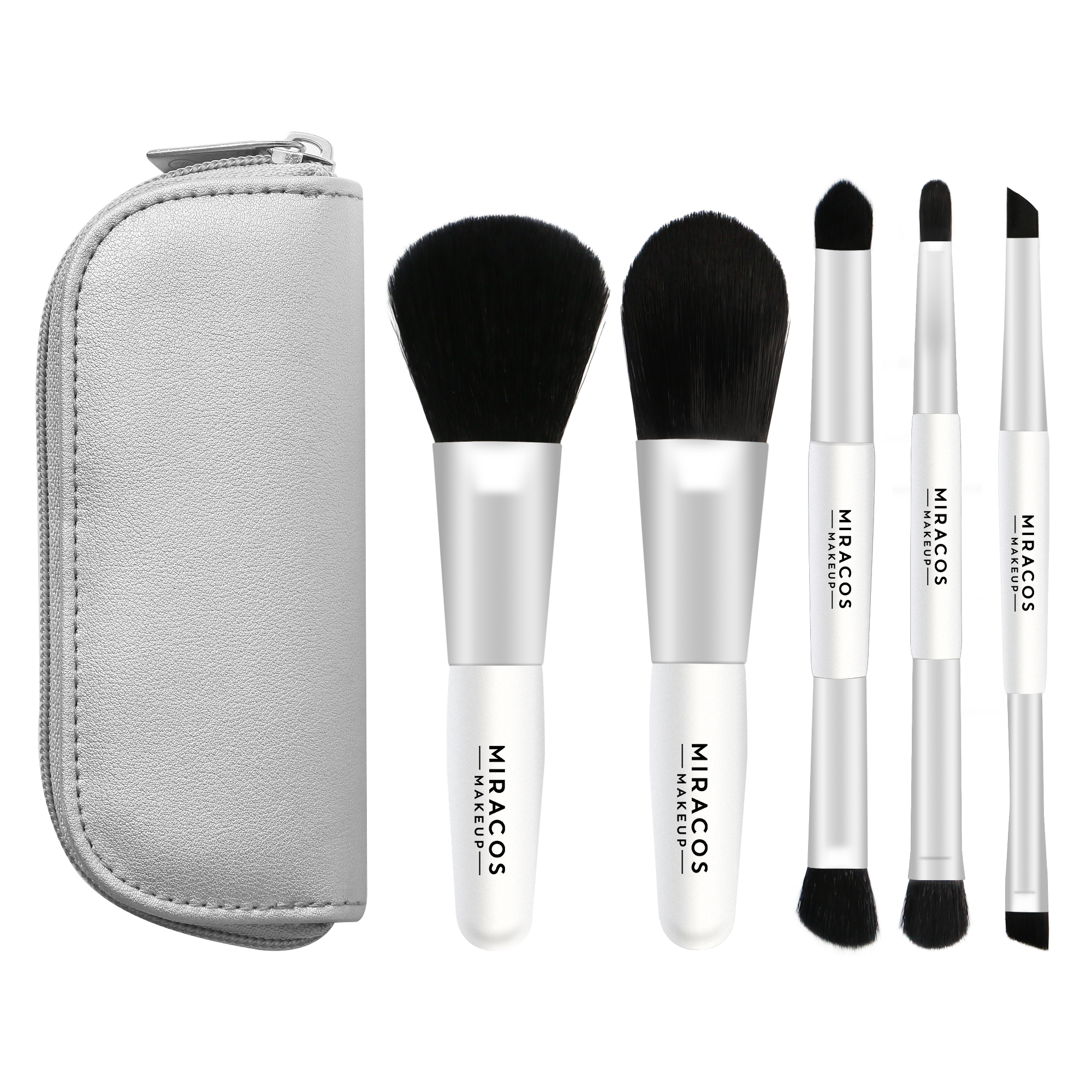 MM21 Travel Makeup Brush Set with Zippered Case