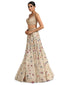 Handcrafted Lehenga with Sequin Blouse- Ivory