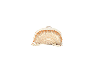 Pearl Embroidered Clutch