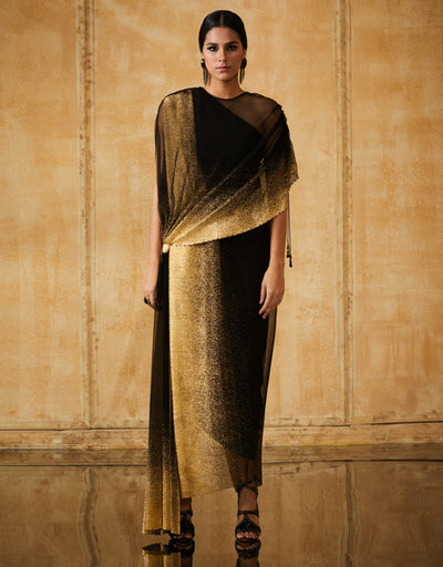 Foil Crinkle Draped Cape