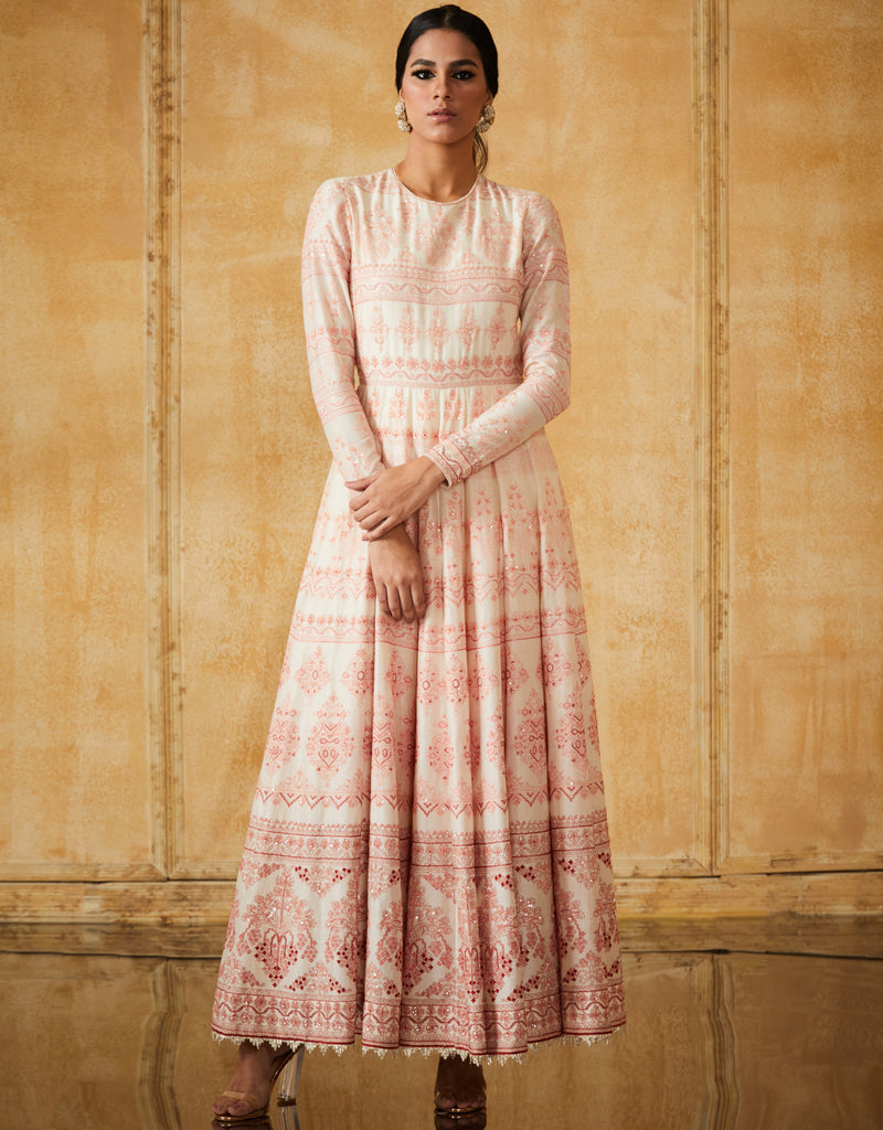 Embroidered Anarkali With Churidar