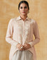 Silk Georgette Embroidered Shirt