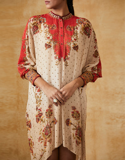 Egyptian Floral Print Tunic