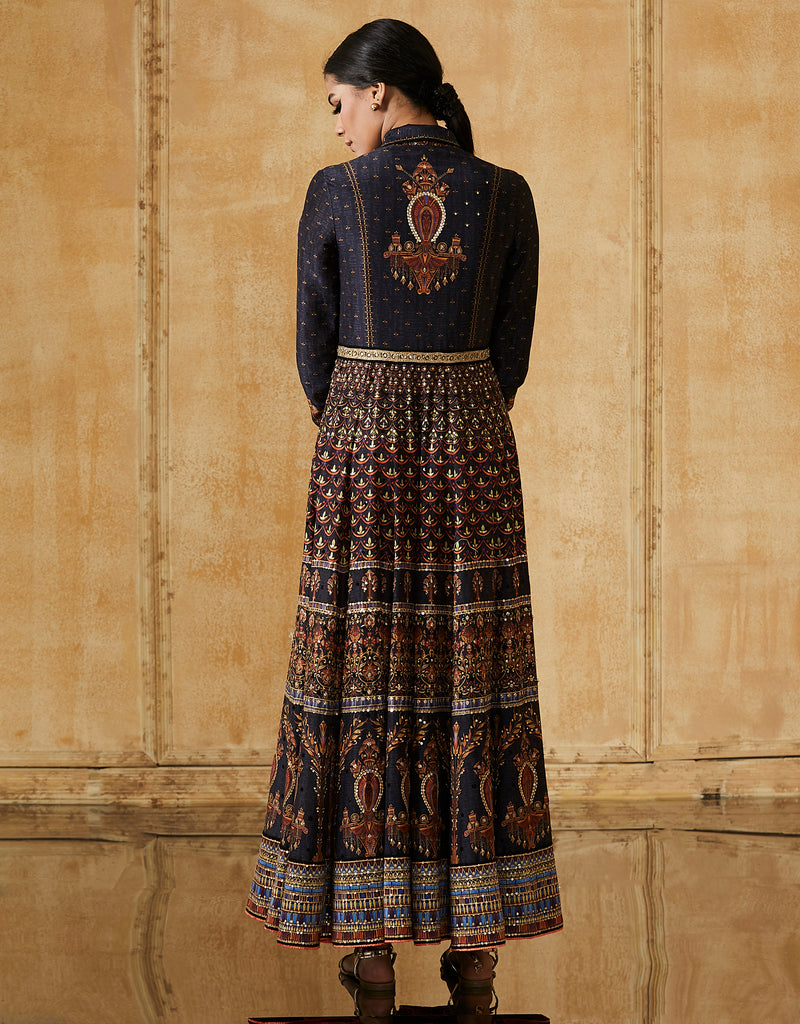 Egyptian Floral Print Anarkali