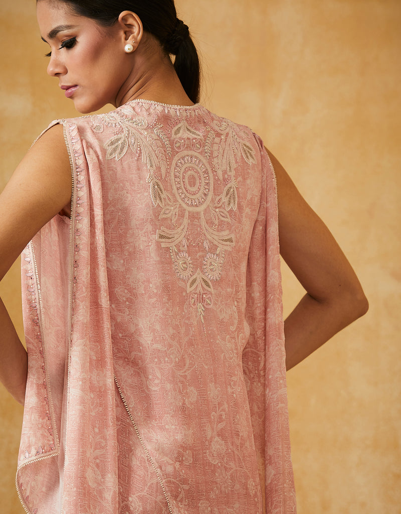 Digital Printed Chikankari Tunic