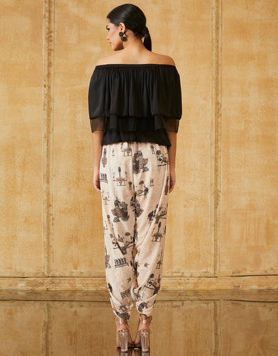Printed Dhoti Pants