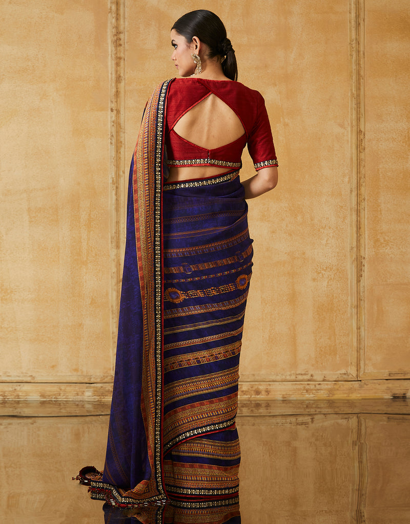 Embroidered Silk Georgette Sari