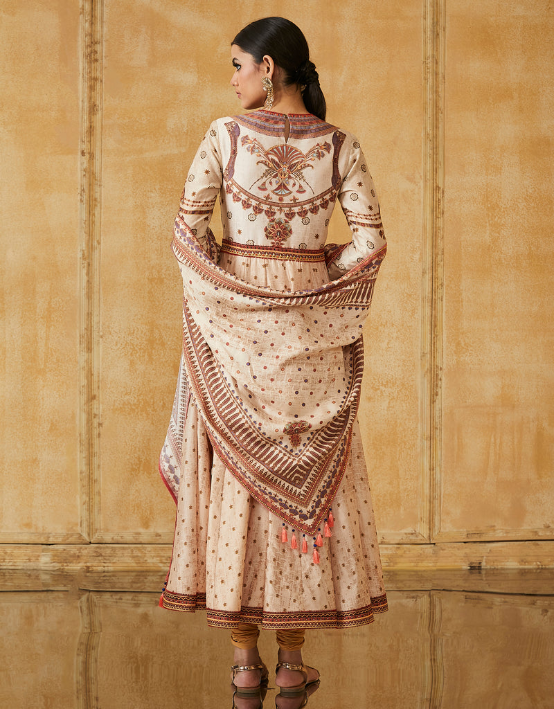 Silk Chanderi Anarkali