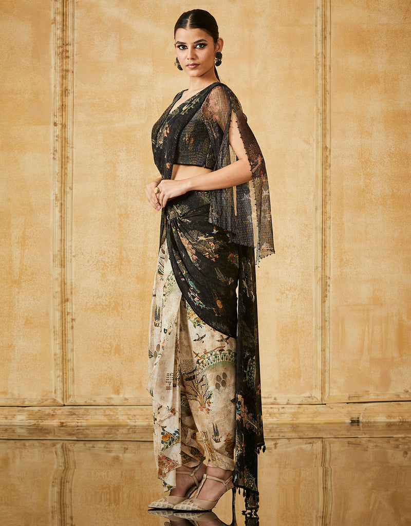 Silk Georgette Printed Concept Saree