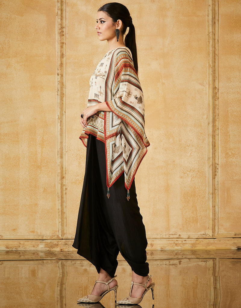 Silk Georgette Cape