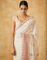 Thread Embroidered Saree With Textured Blouse