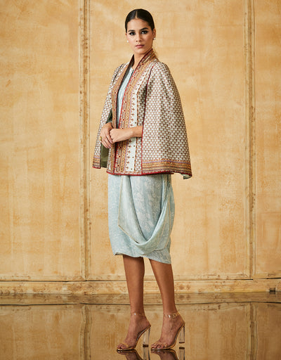 Silk Chanderi Cape