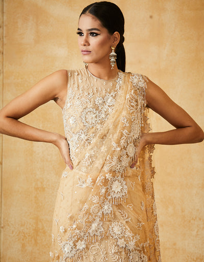 Kalidar Lehenga With Embroidered Bodysuit