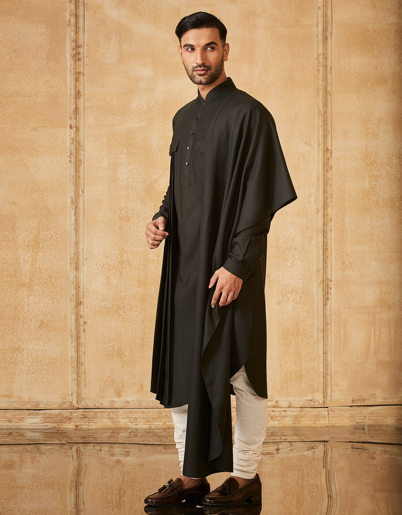 One Sided Kurta With Churidar