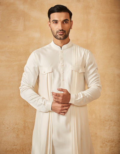 Pathani Kurta With Cowl Dhoti