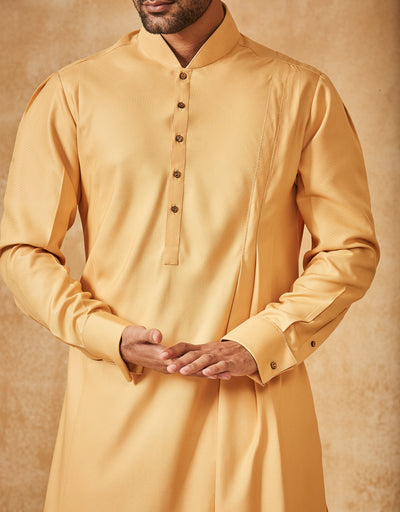 Drape Kurta Paired With Trouser