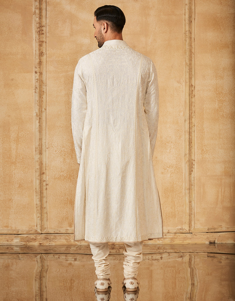 Embroidered Kurta With Churidar