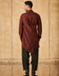 Short Drape Kurta With Salwar