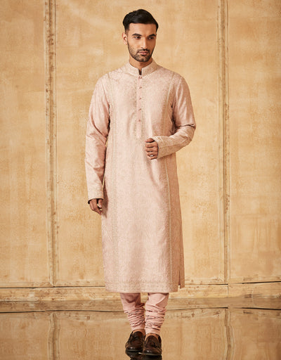 Kurta Paired With Tone On Tone Churidar