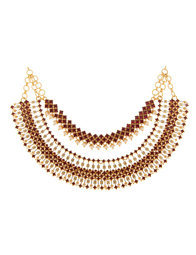 Luminescent Statement Tasselated Necklace