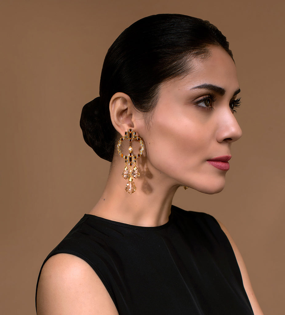 Luminescent Statement Deco Earrings