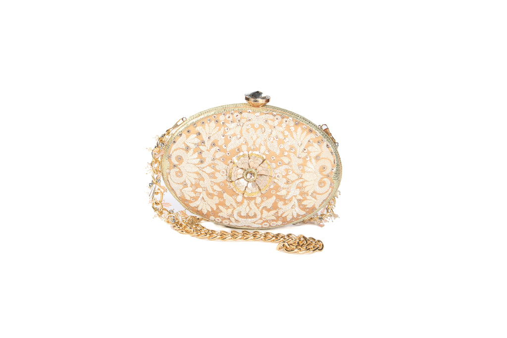 Hand Embroidered Evening Clutch