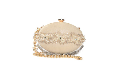 Hand Embroidered Clutch With Cuff