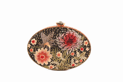 Flower Embellished Clutch