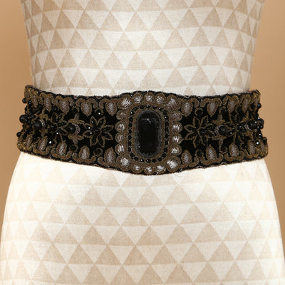Embroidered Broad Belt