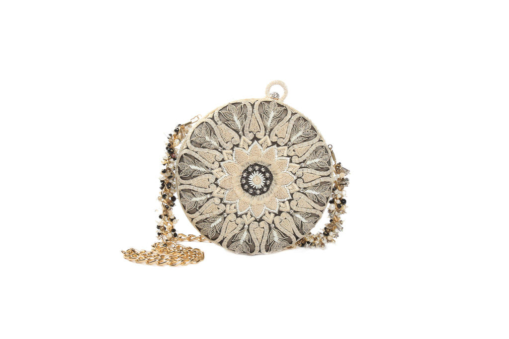 Embroidered Evening Clutch