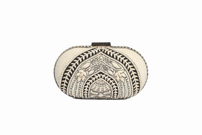 Pearl Crystal Embroidered Clutch