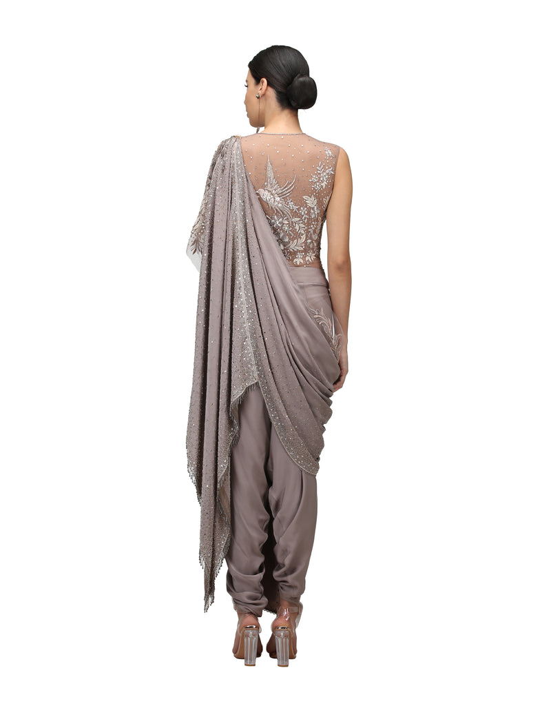 Pre-Draped Saree with Body Suit