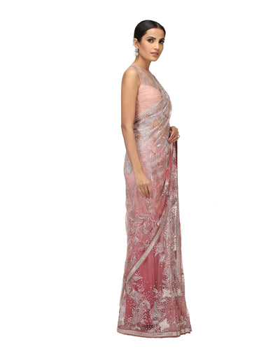 Ornamental Resham Saree
