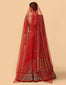 Zardozi Embroidered Bridal Lehenga With Blouse, Dupatta & Veil