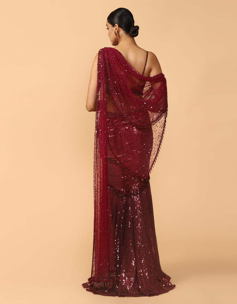 Concept Saree With Drape And Bustier