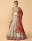 Kalidar Lehenga With Blouse And Bandhani Dupatta