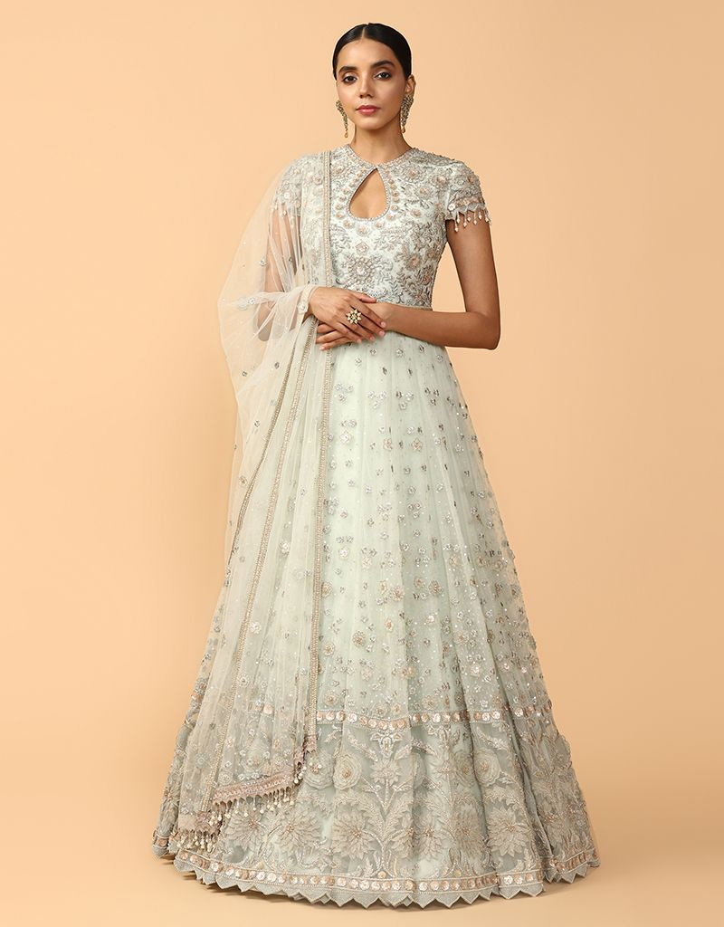 Kalidar Anarkali Paired With Dupatta & Churidar