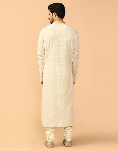 Jaal Chikankari Kurta With Churidar