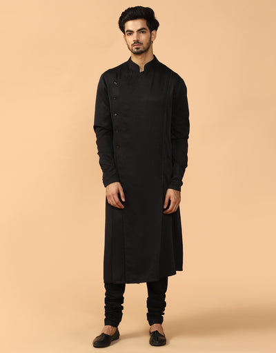 Drape Kurta With Churidar