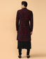 Applique Sherwani With Kurta & Trouser