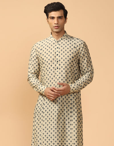 Printed Kurta With Churidar