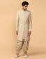 Sleeveless Sherwani Paired With Kurta & Dhoti